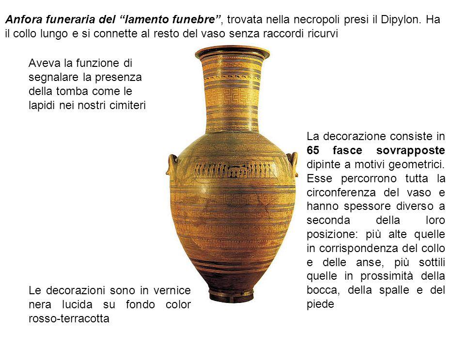 Anfora funeraria del lamento funebre , trovata nella necropoli presi il Dipylon.