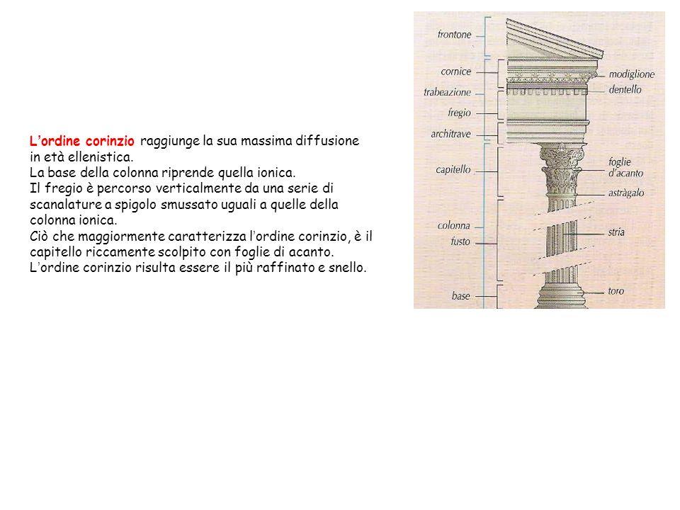 L ' ordine corinzio raggiunge la sua massima diffusione in età ellenistica.