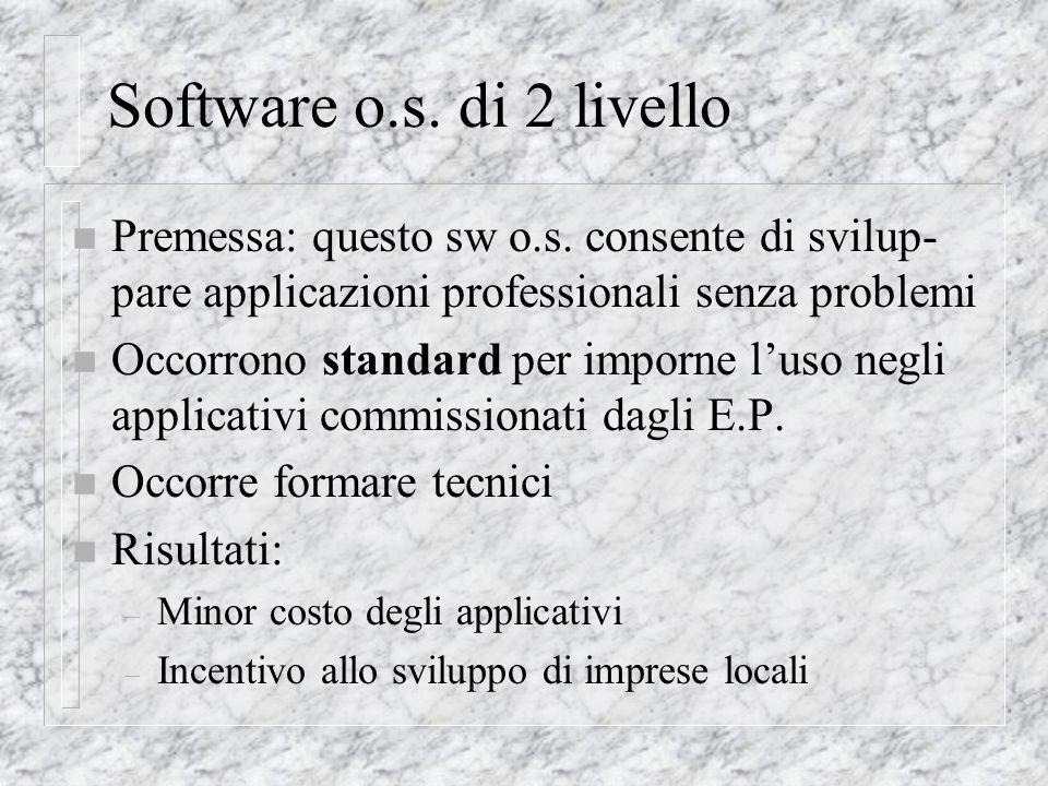 Software o.s.di 2 livello n Premessa: questo sw o.s.
