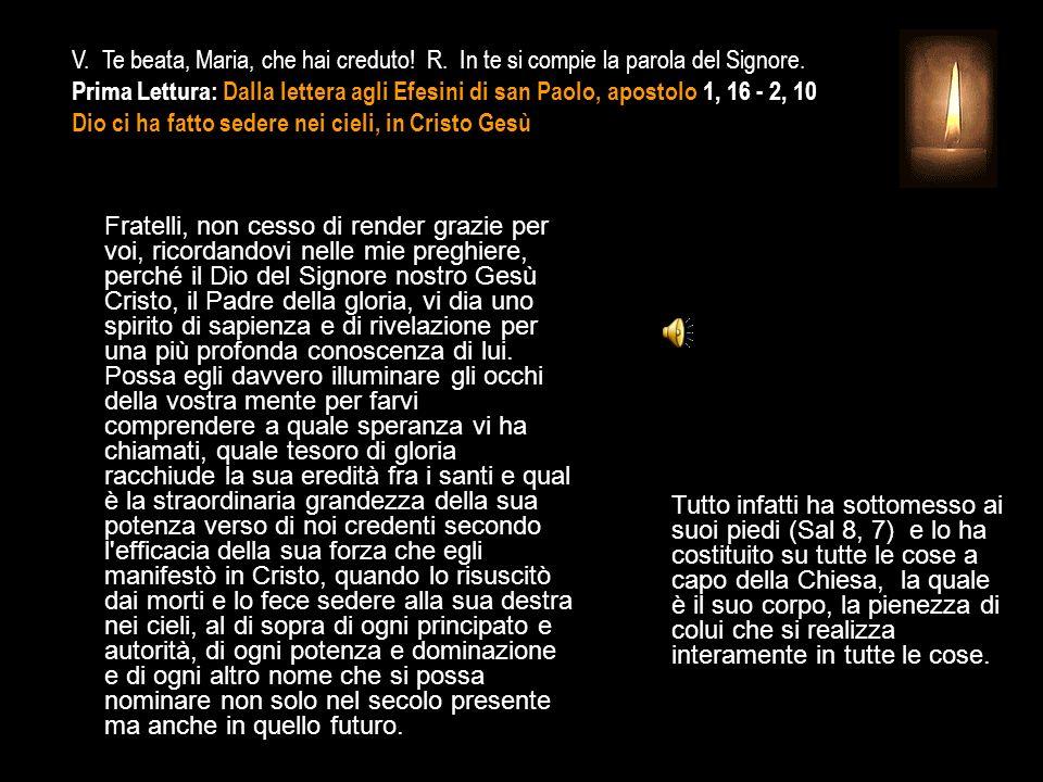 3^ Antifona Meraviglie si cantano di te, o Vergine Maria.