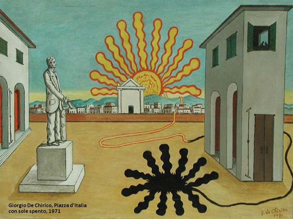 Giorgio De Chirico, Piazza d'Italia con sole spento, 1971