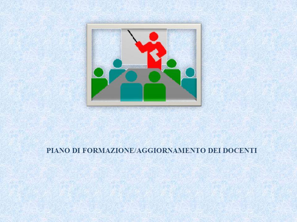PIANO DI FORMAZIONE/AGGIORNAMENTO DEI DOCENTI