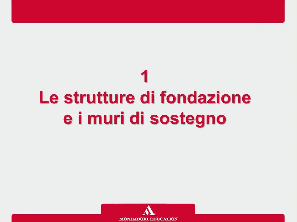 1 Le strutture di fondazione e i muri di sostegno 1 Le strutture di fondazione e i muri di sostegno