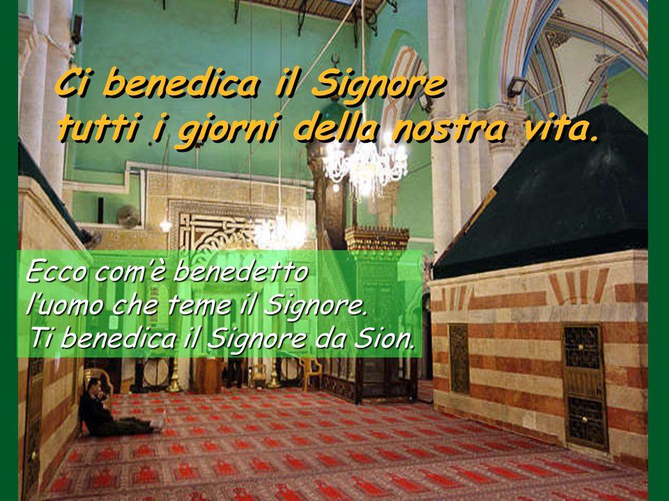 Tombe: d'Abramo e Sara, Isacco e Rebecca, Giacobbe e Lia Ci benedica il Signore tutti i giorni della nostra vita.