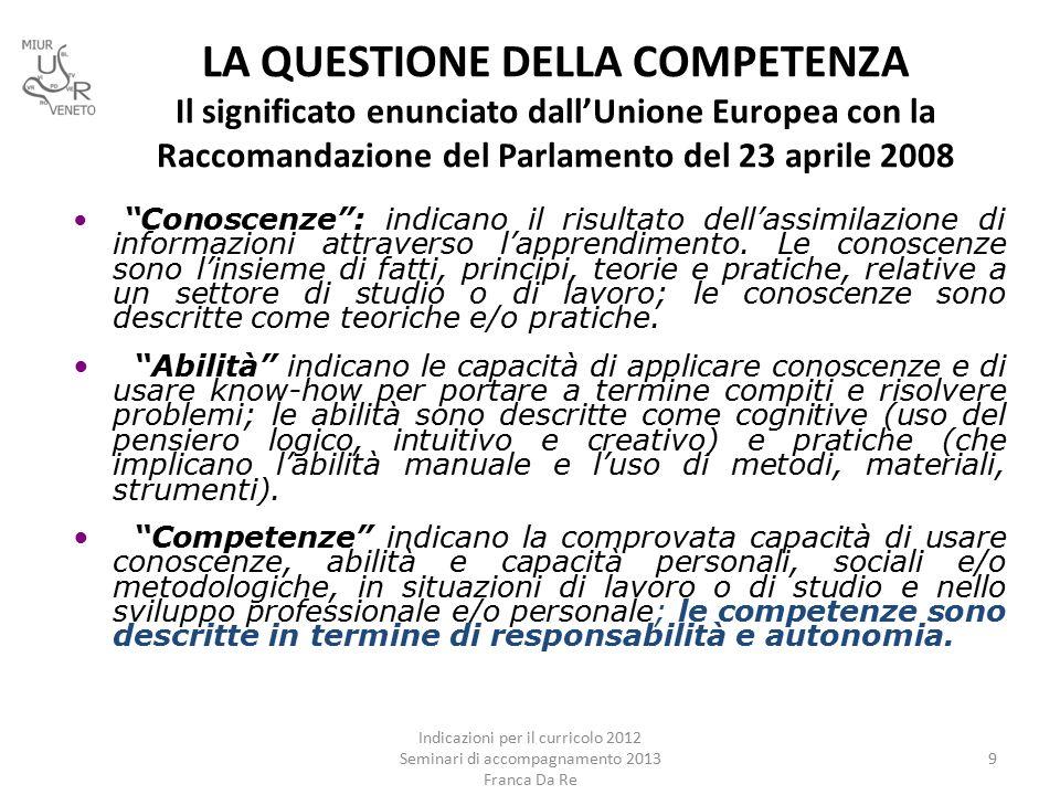 SITOGRAFIA DA RE, Franca, La didattica per competenze, Pearson, Torino 2013 (da chiedere direttamente agli agenti di zona della Pearson.