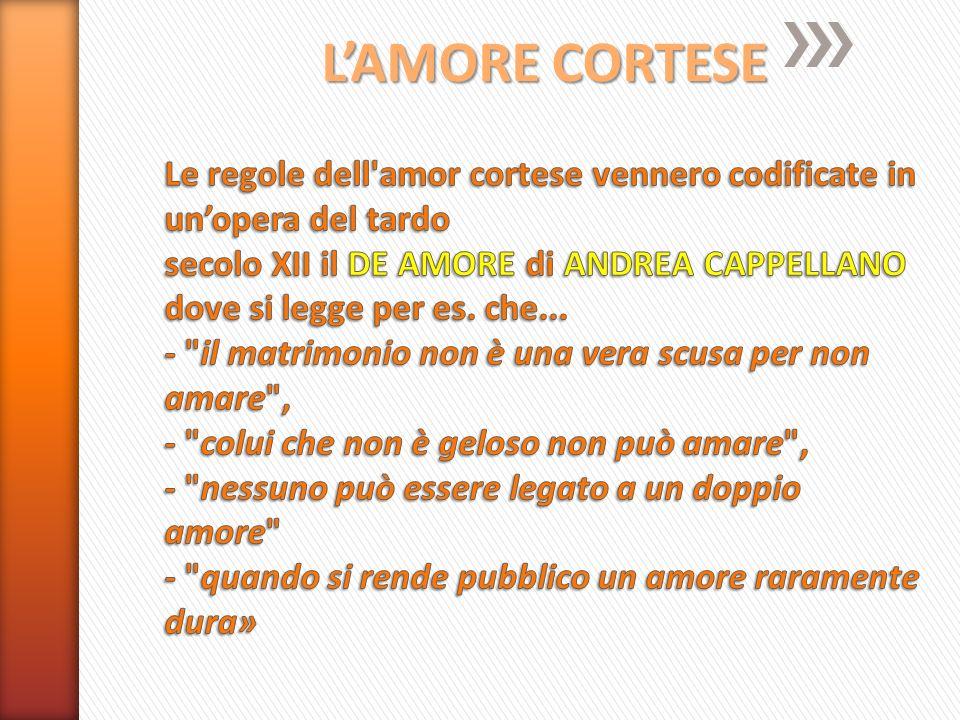L'AMORE CORTESE