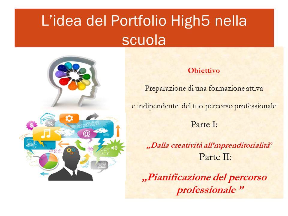 """Obiettivo Preparazione di una formazione attiva e indipendente del tuo percorso professionale Parte I: """"Dalla creatività all'mprenditorialità"""" Parte I"""