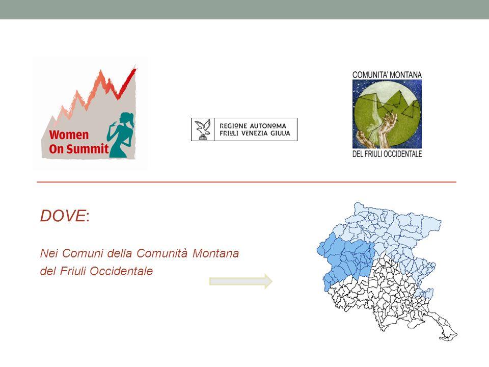 - DOVE: Nei Comuni della Comunità Montana del Friuli Occidentale