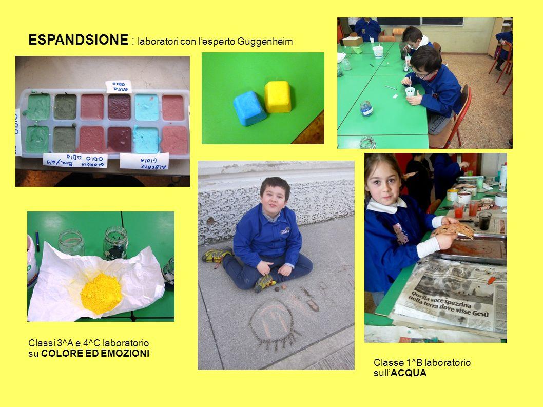 ESPANDSIONE : laboratori con l'esperto Guggenheim Classi 3^A e 4^C laboratorio su COLORE ED EMOZIONI Classe 1^B laboratorio sull'ACQUA