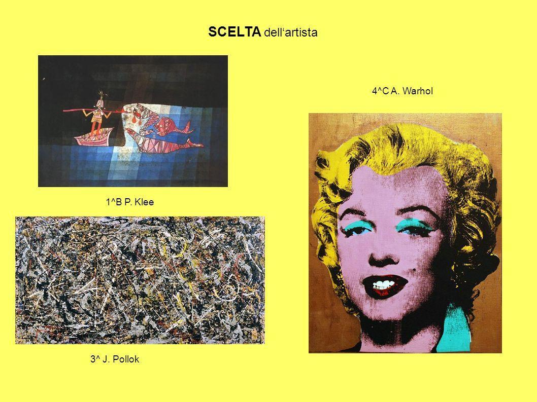 SCELTA dell'artista 4^C A. Warhol 3^ J. Pollok 1^B P. Klee