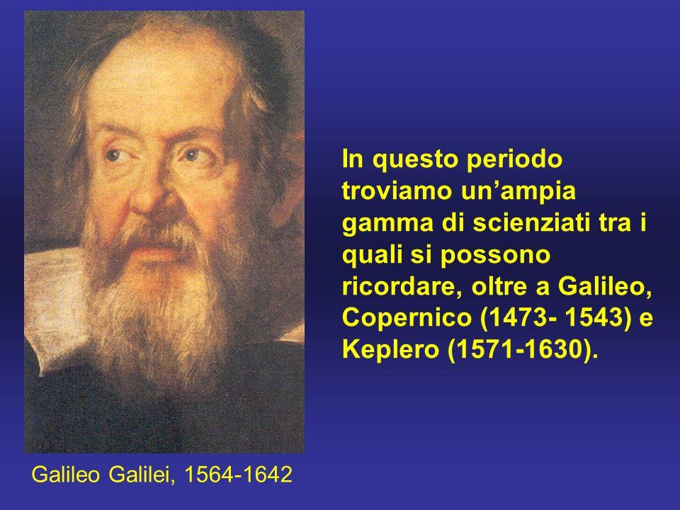 In questo periodo troviamo un'ampia gamma di scienziati tra i quali si possono ricordare, oltre a Galileo, Copernico (1473- 1543) e Keplero (1571-1630).