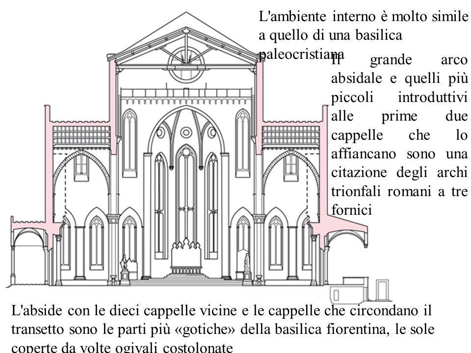 28 Nel 1296 Arnolfo Di Cambio progetta la nuova cattedrale di Santa Maria del Fiore A Firenze La chiesa, a tre navate, ha quattro immense campate e tre absidi poligonali che si articolano attorno a un grande vano ottagonale coperto da una cupola.