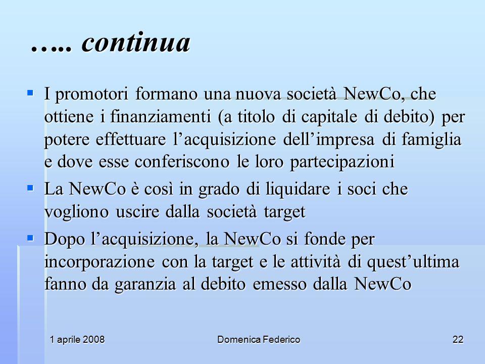 1 aprile 2008Domenica Federico22 …..