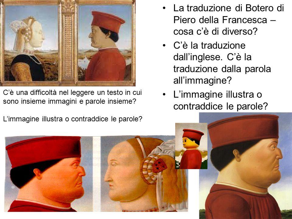 La traduzione di Botero di Piero della Francesca – cosa c'è di diverso.