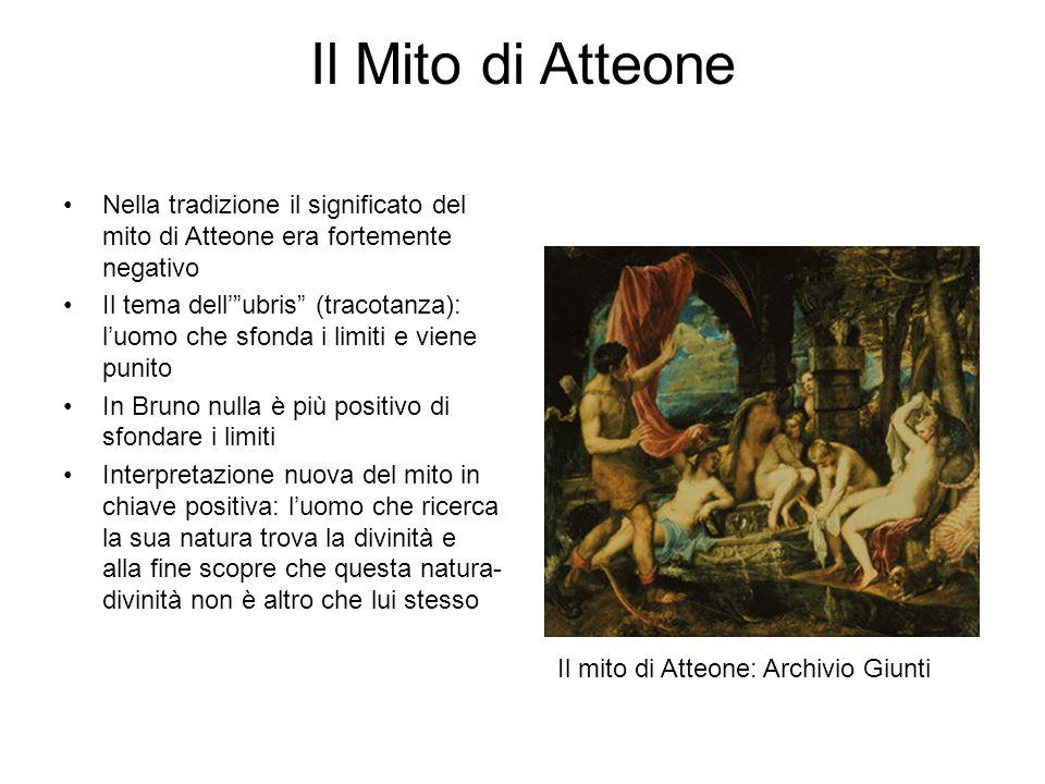 """Il Mito di Atteone Nella tradizione il significato del mito di Atteone era fortemente negativo Il tema dell'""""ubris"""" (tracotanza): l'uomo che sfonda i"""
