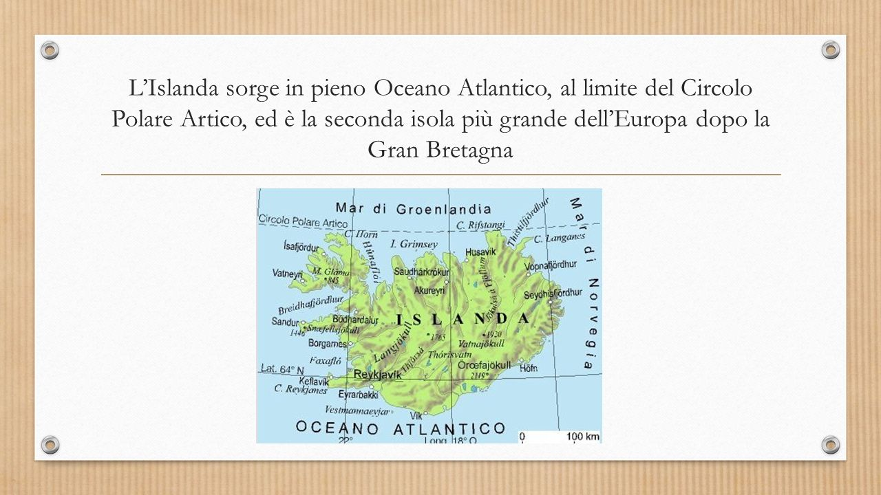 Il territorio e il clima L'isola sorge su una catena montuosa sottomarina.