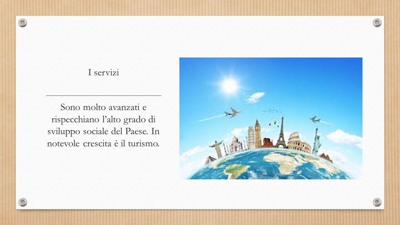 I servizi Sono molto avanzati e rispecchiano l'alto grado di sviluppo sociale del Paese. In notevole crescita è il turismo.