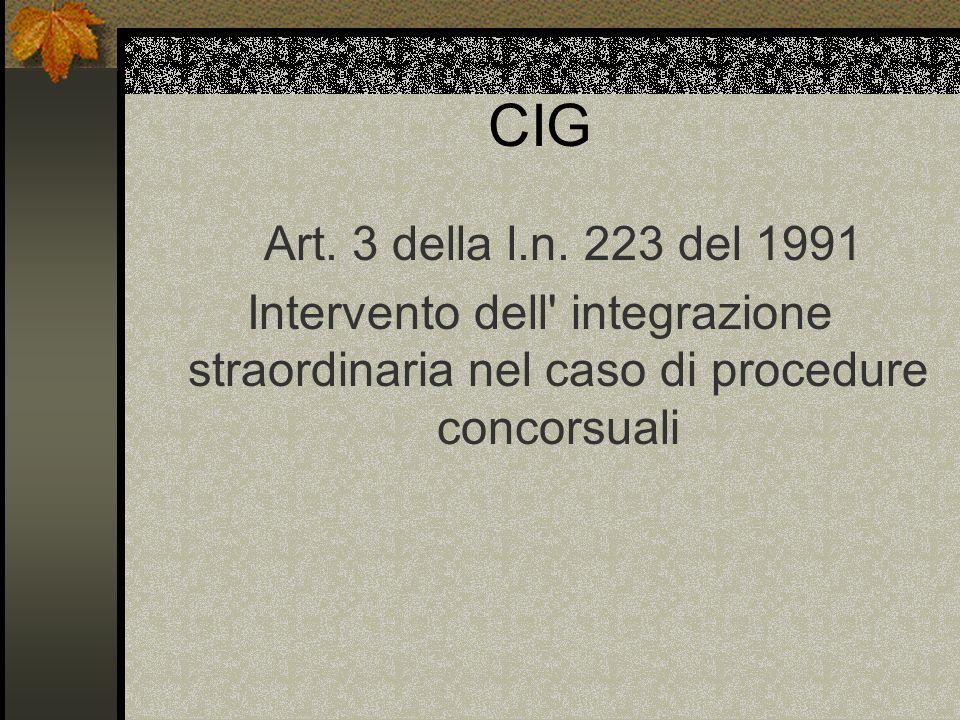 CIG Art. 3 della l.n.