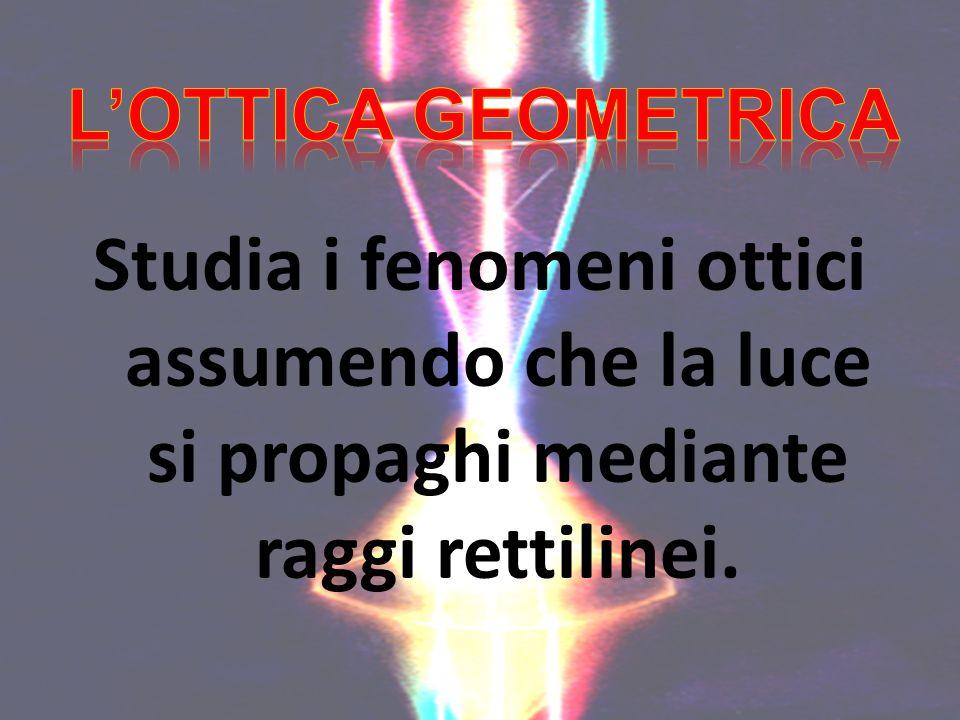Studia i fenomeni ottici assumendo che la luce si propaghi mediante raggi rettilinei.
