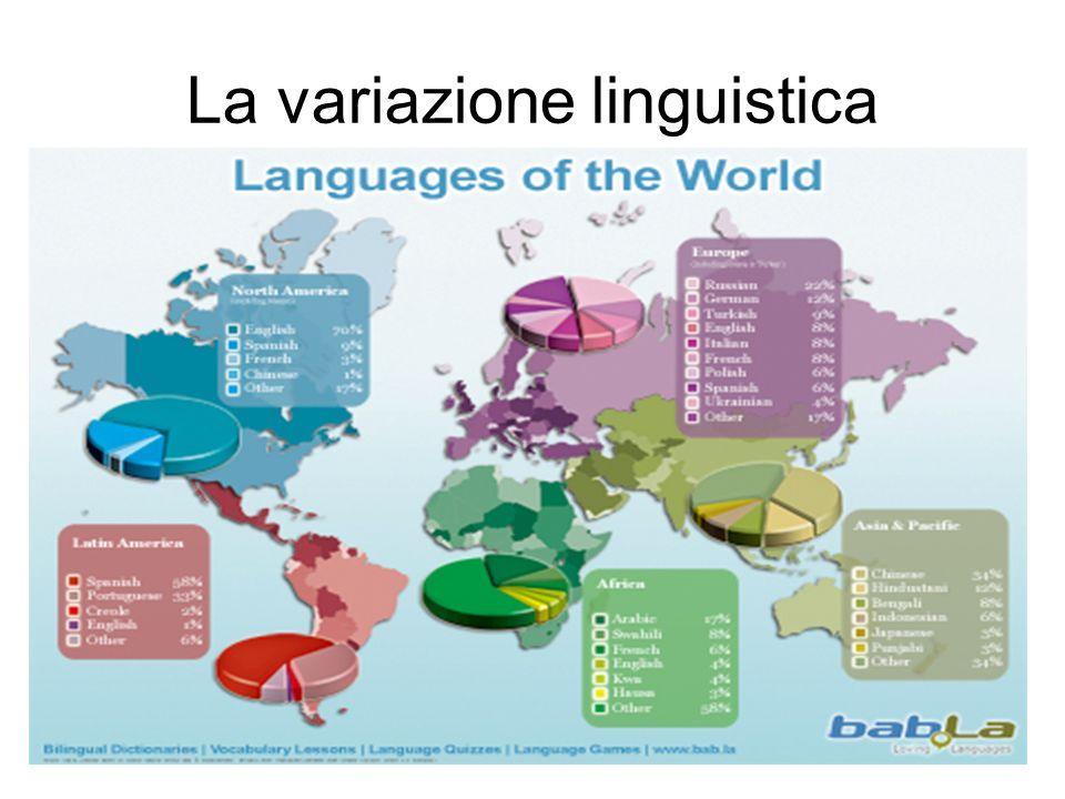 Il numero delle lingue è molto superiore a quello degli stati Es.
