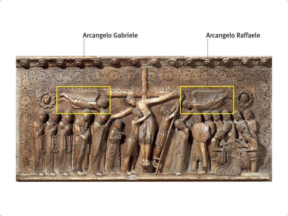 [e] La linea orizzontale è bloccata da due tondi con le personificazioni del Sole e della Luna.