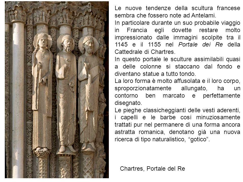 Chartres, Portale del Re Le nuove tendenze della scultura francese sembra che fossero note ad Antelami.