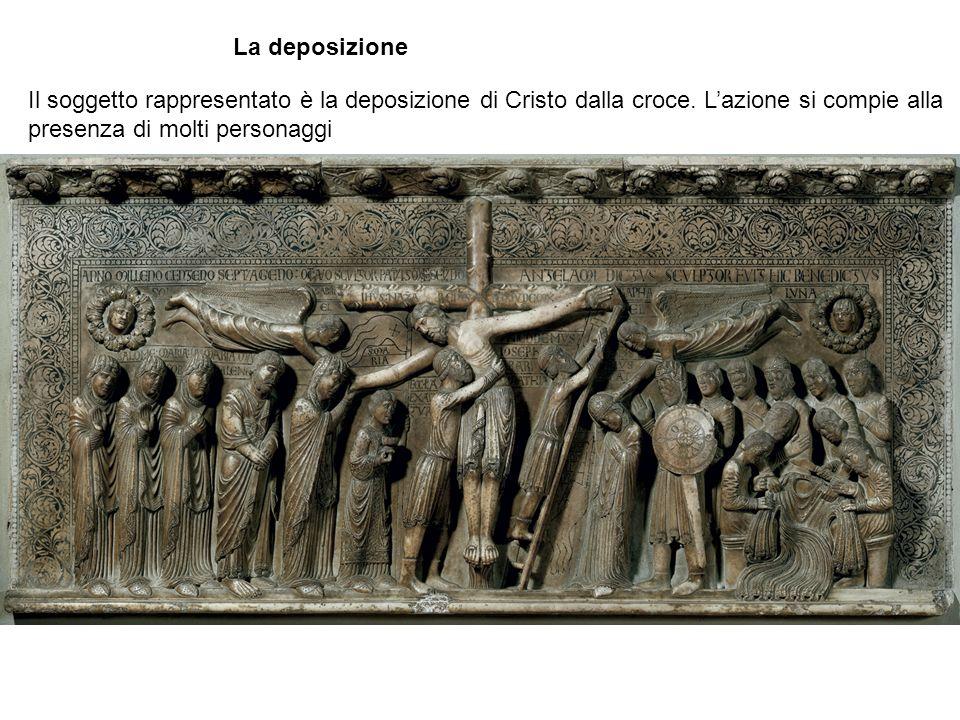 La deposizione Il soggetto rappresentato è la deposizione di Cristo dalla croce.
