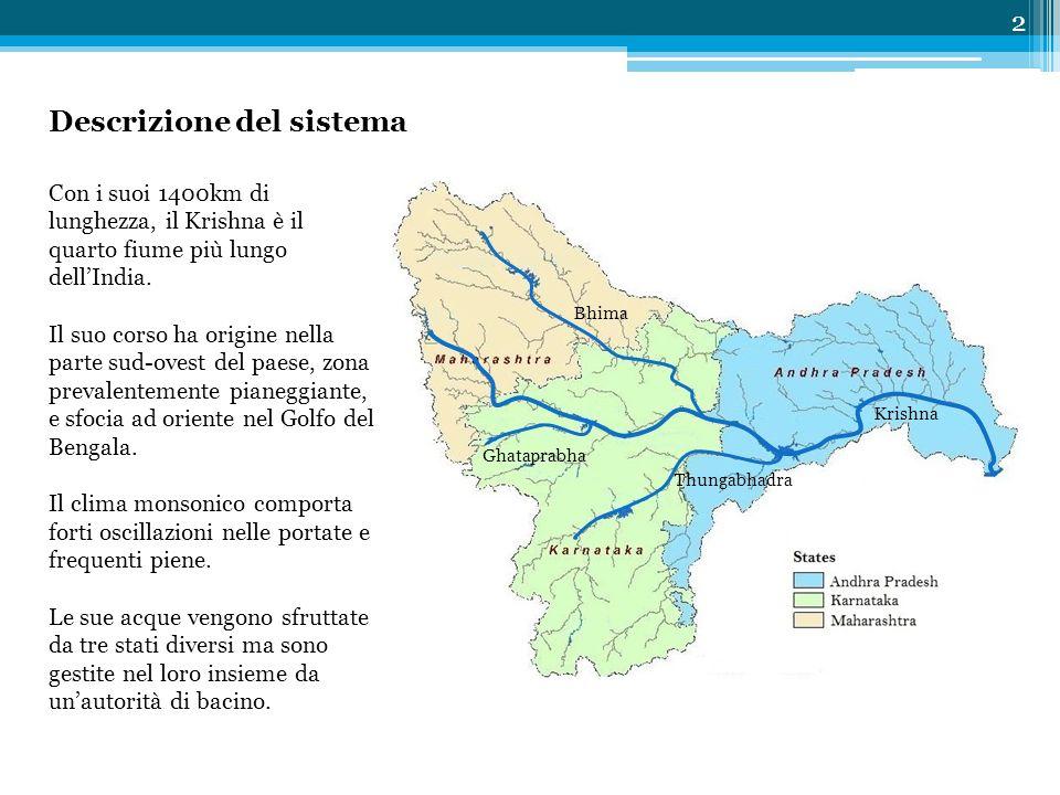 Con i suoi 1400km di lunghezza, il Krishna è il quarto fiume più lungo dell'India. Il suo corso ha origine nella parte sud-ovest del paese, zona preva