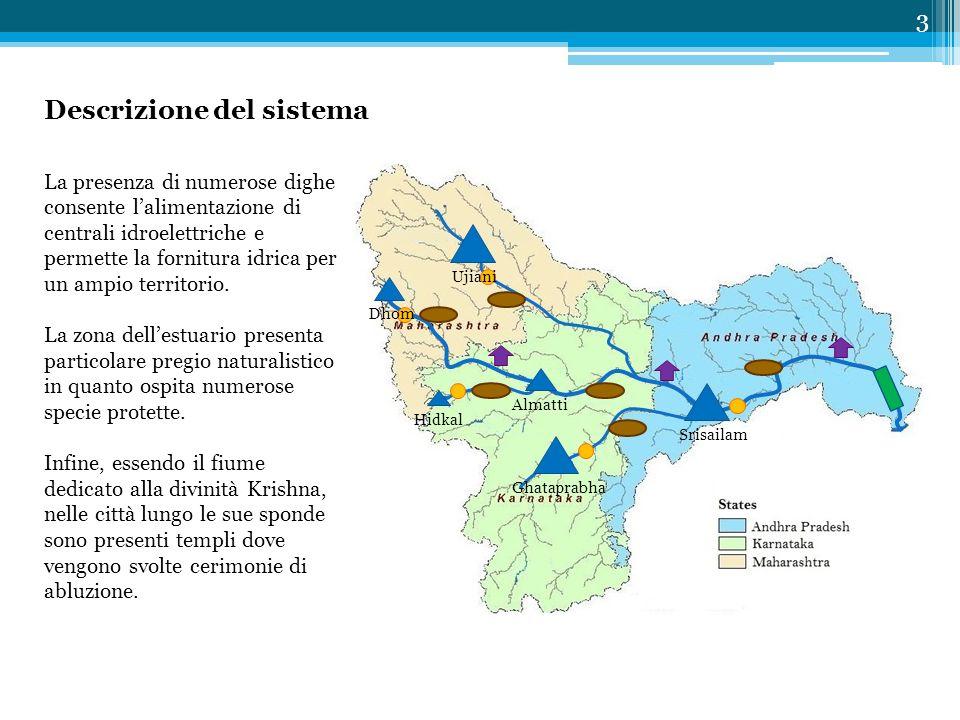 Descrizione del sistema 3 La presenza di numerose dighe consente l'alimentazione di centrali idroelettriche e permette la fornitura idrica per un ampi