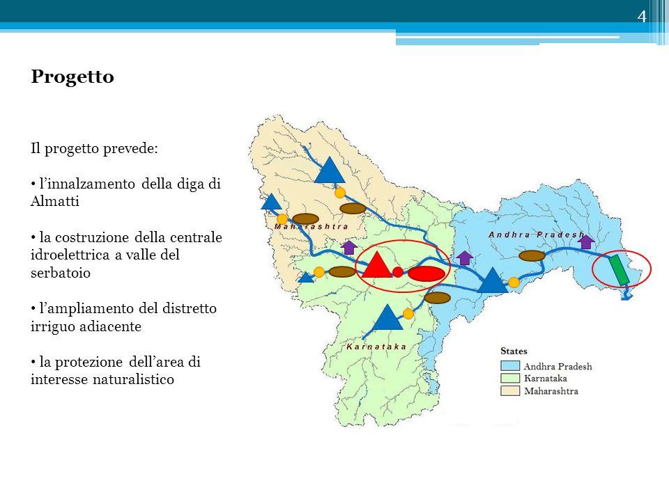 Progetto 4 Il progetto prevede: l'innalzamento della diga di Almatti la costruzione della centrale idroelettrica a valle del serbatoio l'ampliamento d