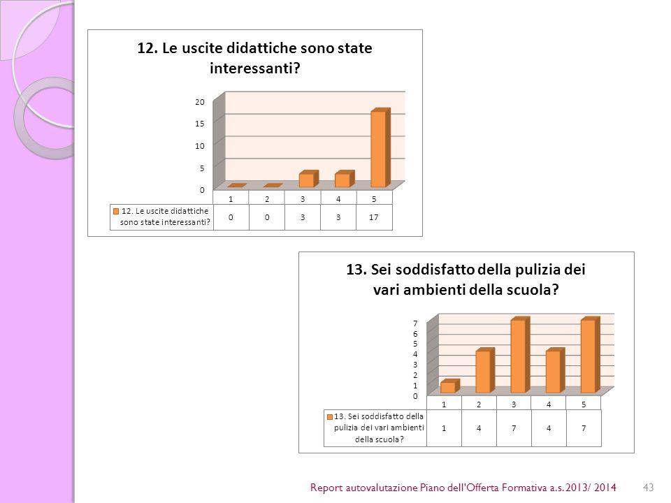 43Report autovalutazione Piano dell Offerta Formativa a.s. 2013/ 2014