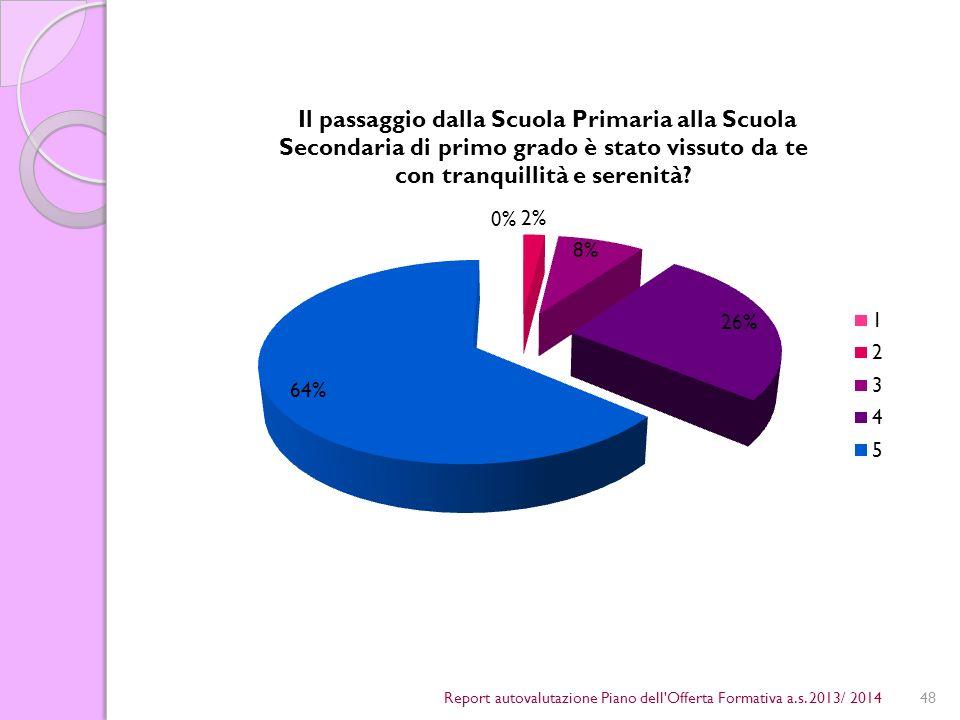 48Report autovalutazione Piano dell Offerta Formativa a.s. 2013/ 2014