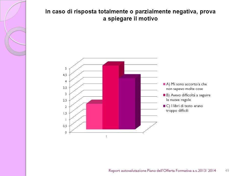 49Report autovalutazione Piano dell Offerta Formativa a.s.