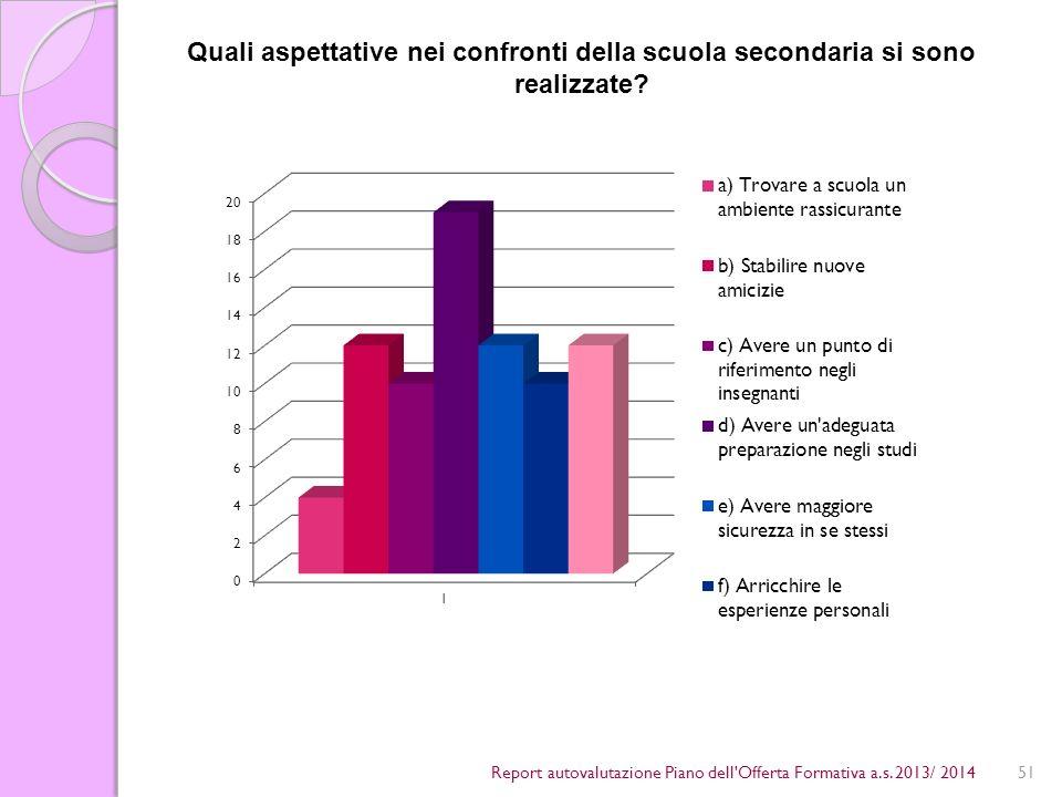 51Report autovalutazione Piano dell Offerta Formativa a.s.