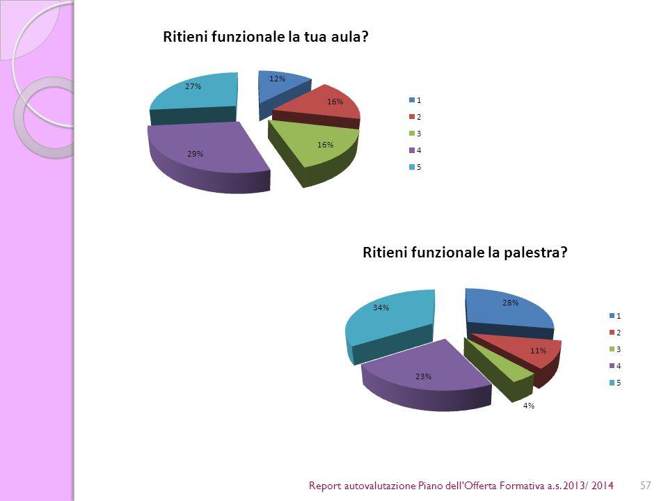 57Report autovalutazione Piano dell Offerta Formativa a.s. 2013/ 2014