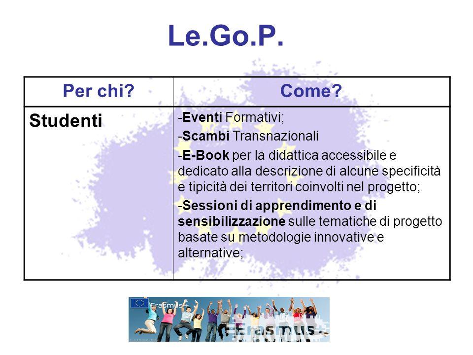 Le.Go.P.Per chi?Come.