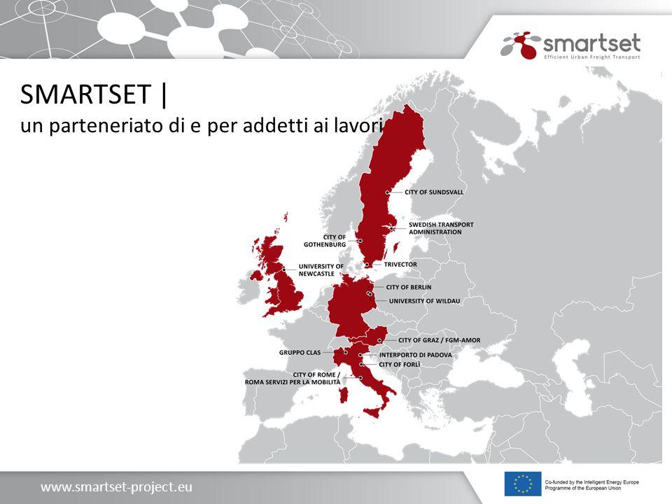 www.smartset-project.eu Le attività sviluppate in SMARTSET Attività di progetto: WP2: Sviluppo dei servizi di consegna su nuovi segmenti merci (espresso e deperibili), l estensione ad aree non urbane (zona termale: comuni di Abano, Montegrotto e Battaglia Terme).