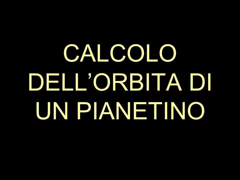 CALCOLO DELL'ORBITA DI UN PIANETINO