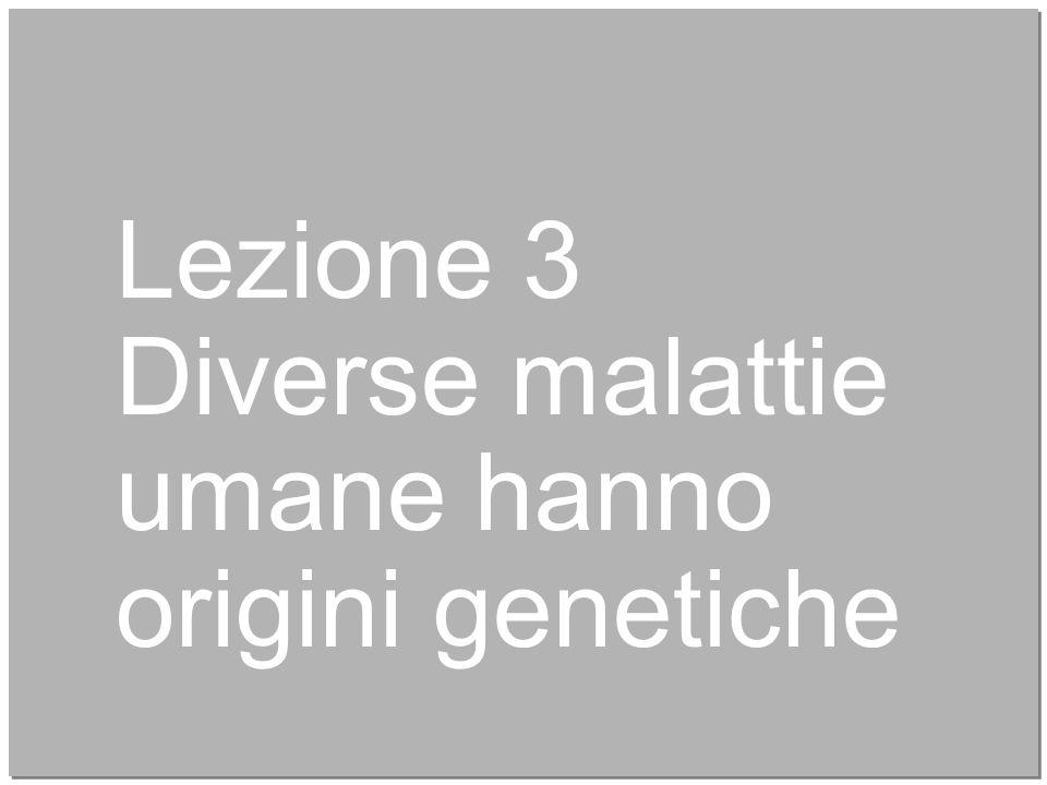 15 Lezione 3 Diverse malattie umane hanno origini genetiche