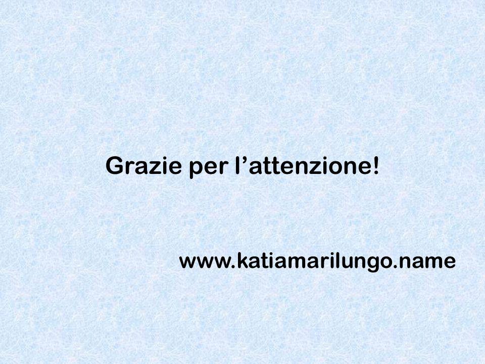 Grazie per l'attenzione! www.katiamarilungo.name