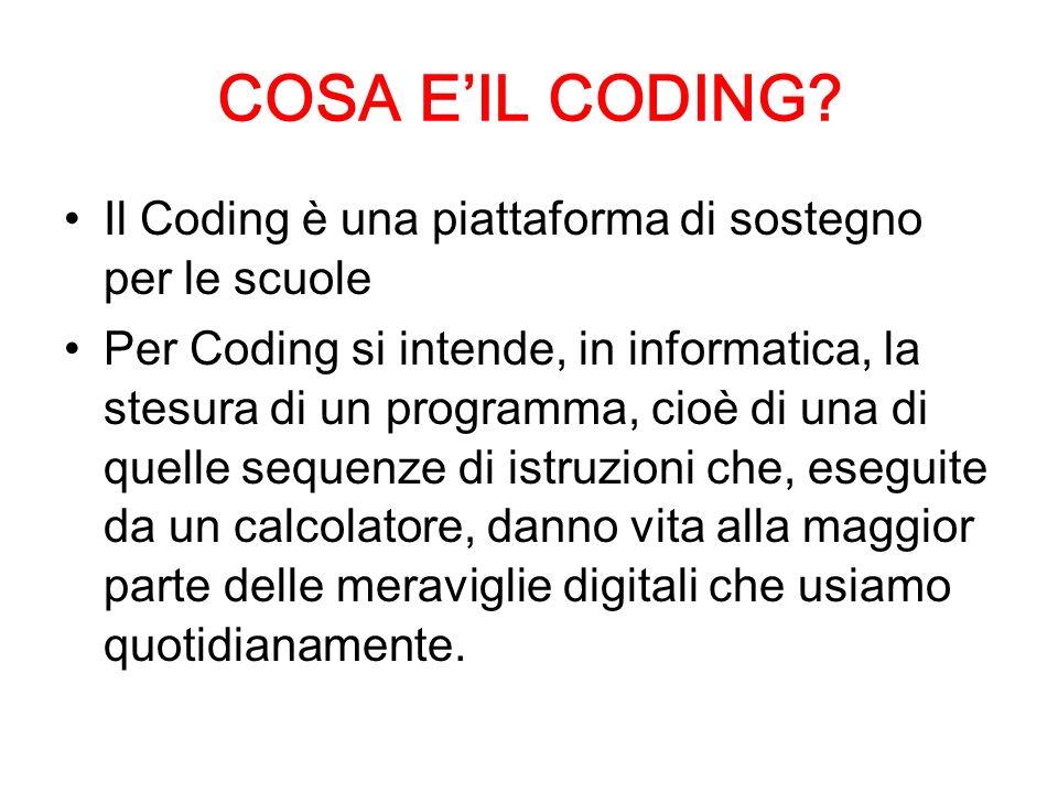 COSA E'IL CODING.