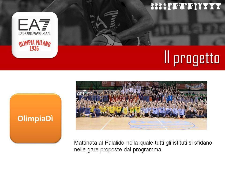 Il progetto Mattinata al Palalido nella quale tutti gli istituti si sfidano nelle gare proposte dal programma.