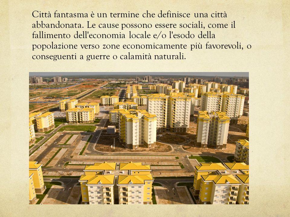 Città fantasma è un termine che definisce una città abbandonata. Le cause possono essere sociali, come il fallimento dell'economia locale e/o l'esodo