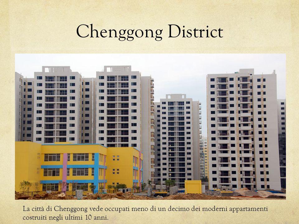 Chenggong District La città di Chenggong vede occupati meno di un decimo dei moderni appartamenti costruiti negli ultimi 10 anni.