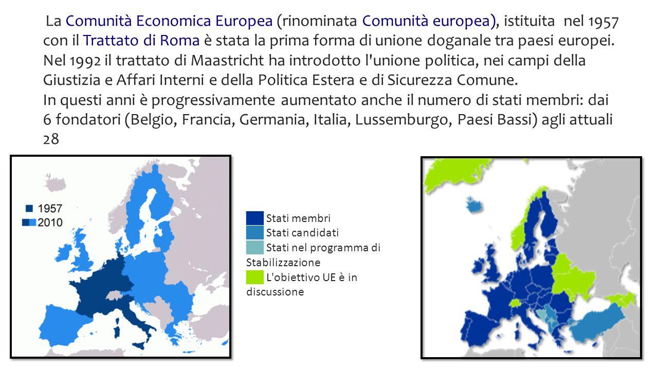 Lingue ufficiali 24 Paesi Membri 28 Superficie 4 326 253 km² (2/5 della superfice degli USA) Di questi la Francia è il Paese più grande (640 679 km²) e il più piccolo è Malta (316 km²).