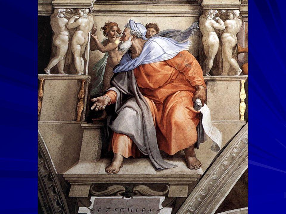Struttura del libro Già Giuseppe Flavio parlava di due libri di Ezechiele, pensando alle due parti principali del libro stesso: – –l una distruttiva (cc.