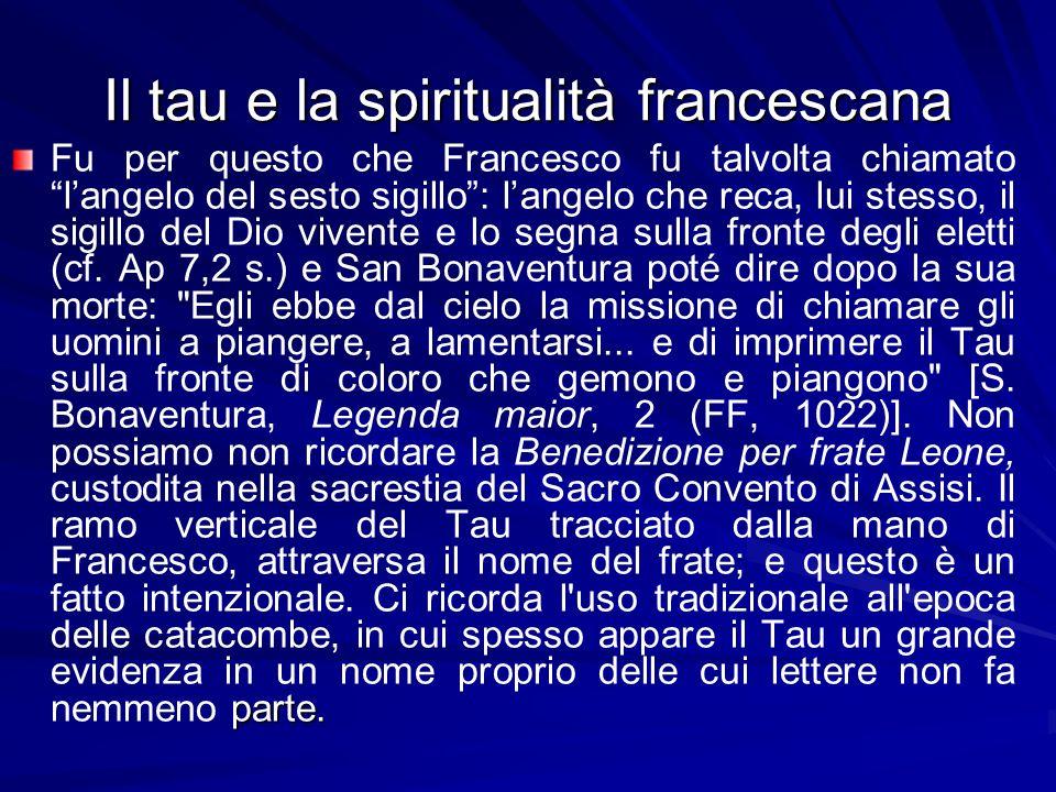 Il tau e la spiritualità francescana parte.