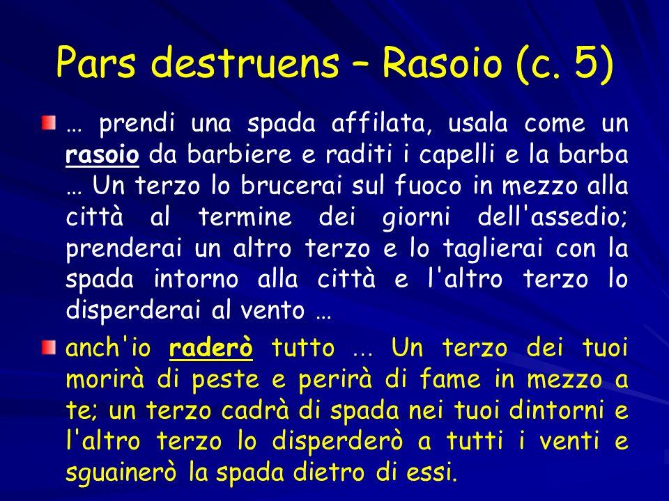 Pars destruens – Rasoio (c.