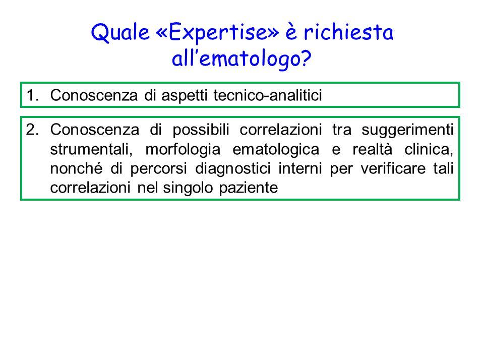 Quale «Expertise» è richiesta all'ematologo.