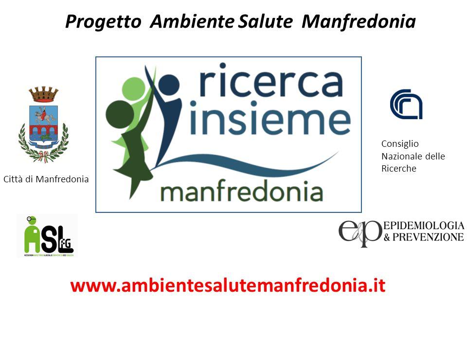 Progetto Ambiente Salute Manfredonia Consiglio Nazionale delle Ricerche Città di Manfredonia www.ambientesalutemanfredonia.it